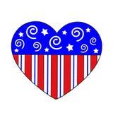 Cuore patriottico Fotografia Stock