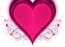 Cuore per il giorno del biglietto di S. Valentino Fotografia Stock