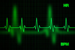 Cuore Rate Graph Background Fotografie Stock