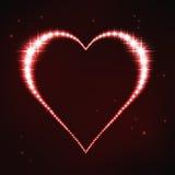 Cuore regolare rosso stilizzato nello stile della costellazione della stella Fotografia Stock