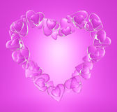 Cuore rosa Royalty Illustrazione gratis