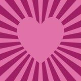 Cuore rosa Fotografia Stock