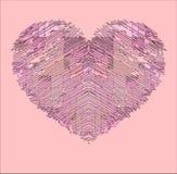 Cuore rosa Fotografia Stock Libera da Diritti