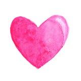Cuore rosa in acquerello Fotografia Stock Libera da Diritti