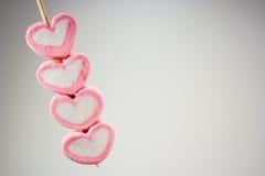 Cuore rosa della caramella gommosa e molle Fotografia Stock