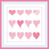 Cuore rosa dipinto Immagini Stock