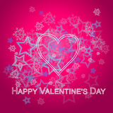 Cuore rosa Valentine Card Immagini Stock Libere da Diritti