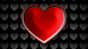 Cuore rosso stock footage