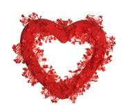 Cuore rosso del biglietto di S. Valentino Fotografia Stock Libera da Diritti