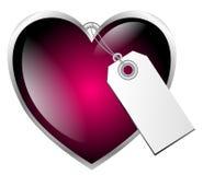 Cuore rosso del biglietto di S. Valentino Immagini Stock Libere da Diritti