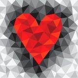 Cuore rosso del triangolo Immagine Stock