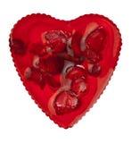 Cuore rosso dolce Fotografia Stock