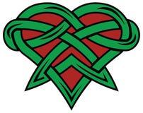 Cuore rosso e verde Fotografia Stock Libera da Diritti