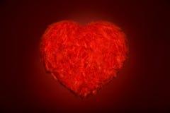 Cuore rosso enorme della piuma Fotografie Stock Libere da Diritti