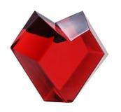 Cuore rosso isolato immagini stock