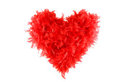 Cuore rosso lanuginoso del biglietto di S. Valentino Immagine Stock Libera da Diritti
