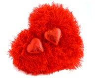 Cuore rosso nell'amore Immagini Stock Libere da Diritti