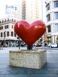 Cuore rosso a San Francisco Immagine Stock