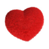 Cuore rosso simile a pelliccia Fotografie Stock