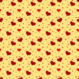 Cuore rosso sul fondo senza cuciture del modello valentine royalty illustrazione gratis