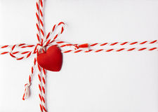 Cuore rosso Valentine Day Background, carta dell'invito di nozze Immagine Stock