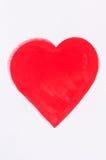 Cuore rosso verniciato Fotografia Stock