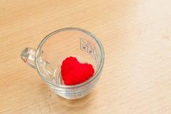 Cuore rosso in vetro Immagine Stock Libera da Diritti