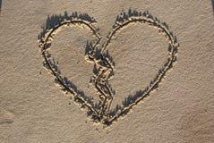 cuore rotto Fotografia Stock