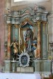 Cuore sacro dell'altare di Gesù in chiesa del presupposto in Na Muri, Croazia di Sveta Marija Fotografia Stock