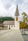 Cuore sacro della chiesa di Gesù in Corvara in Badia - dolomia dell'Italia Fotografie Stock