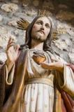 Cuore santo di Gesù Cristo Fotografie Stock