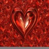 Cuore scintillante dei biglietti di S. Valentino Immagine Stock