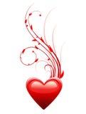 Cuore. Simbolo di amore di giorno del biglietto di S. Valentino. illustrazione vettoriale
