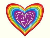 Cuore stilizzato dell'arcobaleno dei dolci fotografie stock libere da diritti