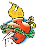 Cuore su fuoco royalty illustrazione gratis