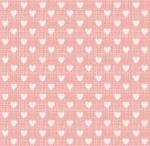 Cuore su struttura rosa dolce, vettore Immagine Stock Libera da Diritti