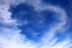 Cuore sul cielo, concetto di amore Fotografia Stock Libera da Diritti