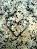Cuore sulla roccia del granito Immagine Stock
