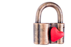 Cuore sulla serratura Fotografia Stock Libera da Diritti