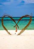Cuore sulla spiaggia Immagine Stock