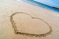 Cuore sulla spiaggia Fotografia Stock Libera da Diritti