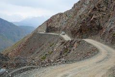 Cuore sulla strada della montagna Immagine Stock Libera da Diritti