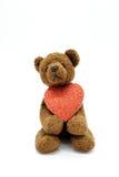 Cuore sveglio della holding dell'orso Fotografia Stock Libera da Diritti