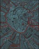 Cuore umano e simboli urbani illustrazione vettoriale