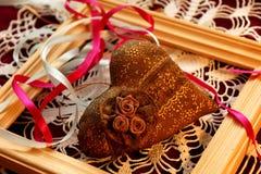 Cuore in un regalo Fotografie Stock