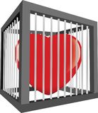 Cuore in una gabbia Immagine Stock Libera da Diritti