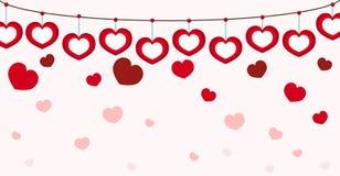 Cuore Valentine Seamless Pink Background illustrazione di stock