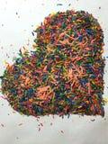 Cuore variopinto Fotografia Stock Libera da Diritti