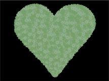 Cuore verde del fiore illustrazione vettoriale