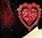 Cuore vermiglio di amore, giorno di biglietti di S. Valentino di nozze Fotografia Stock